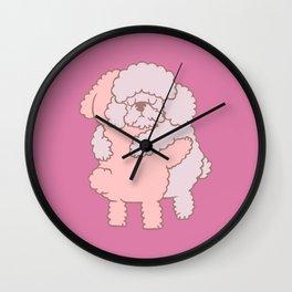 Poodle Hugs Wall Clock
