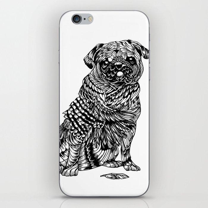 Pug Feather iPhone Skin