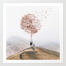 Flying Dandelion Art Print