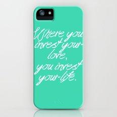 invest your life iPhone (5, 5s) Slim Case
