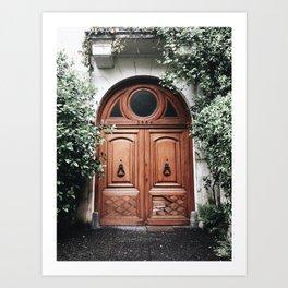 Pretty door in Buenos Aires Art Print