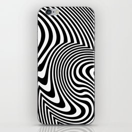 Optical Illusion Op Art Black And White iPhone Skin