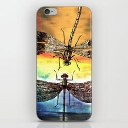 DRAGONFLY meets a Friend iPhone Skin