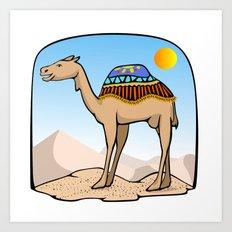 Exalted Camel Art Print