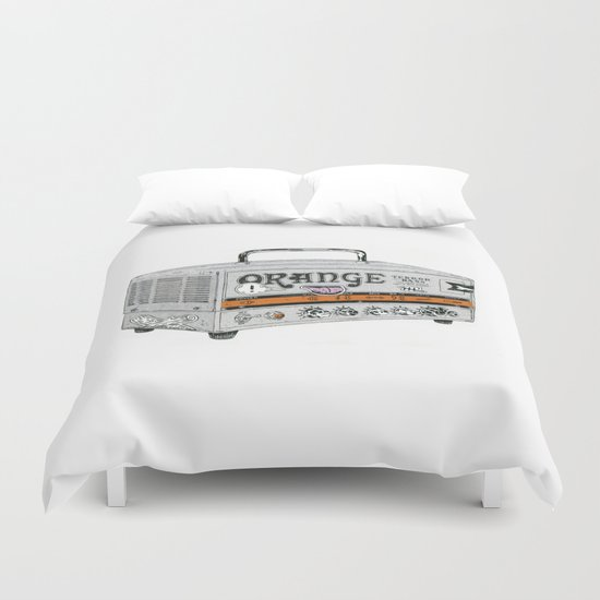 Orange Terror Bass Amplifier ( with stickers) Duvet Cover