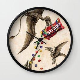 Jurassic skittles Wall Clock