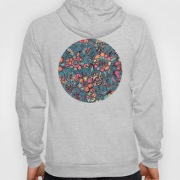 Sweet Spring Floral - melon pink, butterscotch & teal Hoody