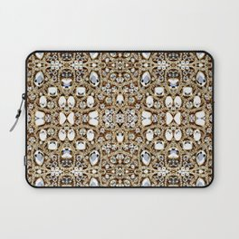 jewelry gemstone silver champagne gold crystal Laptop Sleeve