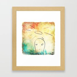 Confused Little Jesus Framed Art Print