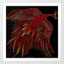 Creature of Fire (The Firebird) Art Print