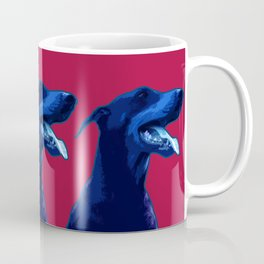 Doberman Pop art portrait. Coffee Mug