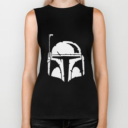 BOBA HELMET MENS FETT DARTH BOUNTY WARS STAR GEEK HUNTER INSPIRED TOP Geek engineer Biker Tank
