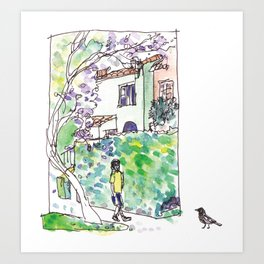 An Afternoon Walk Art Print