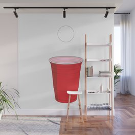 Beer Pong Illustration Wall Mural