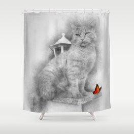 Erik the cat Shower Curtain