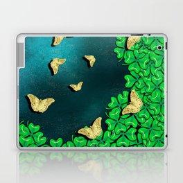 clover and butterflies Laptop & iPad Skin