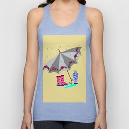 The Beauty of A Rainy Day with Beige Background Unisex Tank Top