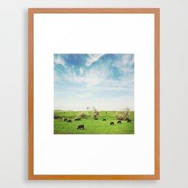 Synchronized Framed Art Print