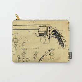 Revolving Fire Arm Support Patent Drawing From 1885 Carry-All Pouch