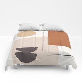 Minimal Shapes No.43 Comforters