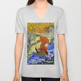 Tales of the Trident:Poseidon Unisex V-Neck