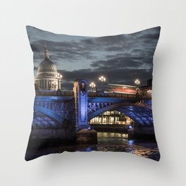 St Paul's Cathedral & Southwark Bridge At Night Throw Pillow