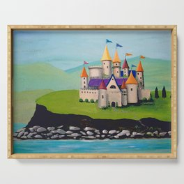 Kids Storybook Castle by the Water Serving Tray