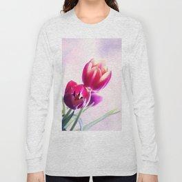 Happy Tulip Greetings Long Sleeve T-shirt