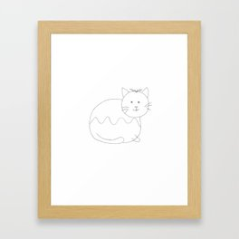 Christmas Pudding Cat Framed Art Print