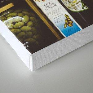 Gastronomie Italienne, Vins Canvas Print
