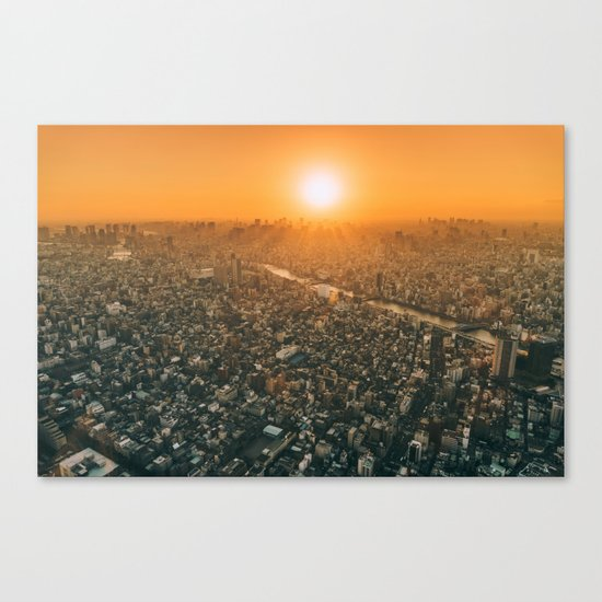 City and the sky Canvas Print