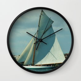 Classic Sailing Yacht Wall Clock