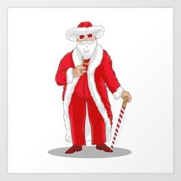 Big Pimpin' Santa Art Print