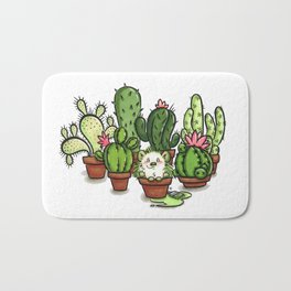 Green - Cactus and Hedgehog Bath Mat