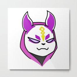 Chibi Drift Purple Metal Print