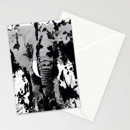 URBAN ELEPHANT INK SPLASH Stationery Cards