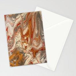 Pour Art Molten Lava Stationery Cards