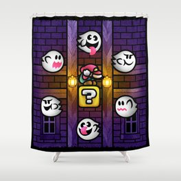 Boos in the Haunted House Shower Curtain
