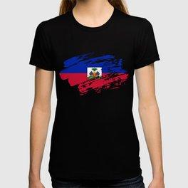Haiti Flag Tee Shirt T-shirt
