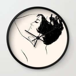 BLACK AND PINK Wall Clock