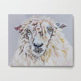 Wooly Metal Print