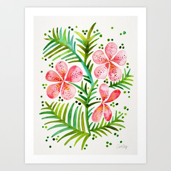 Orchid Bunch – Peach Palette Art Print