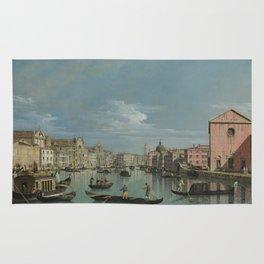 Bernardo Bellotto - Venice - The Grand Canal Facing Santa Croce Rug