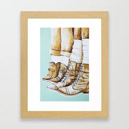 Worn Framed Art Print