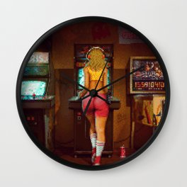 """Raid the Arcade"" [Pixel Art] Wall Clock"