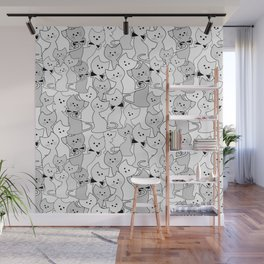 Black and white kittens Wall Mural