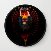apocalypse now Wall Clocks featuring Apocalypse now by LukArt