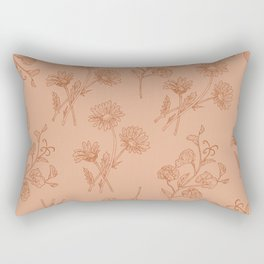Vintage Daisy & Sweet Pea Rectangular Pillow