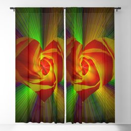 Abstract in perfection - Rose Blackout Curtain