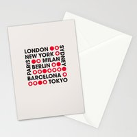 I Love This City Typography Stationery Cards